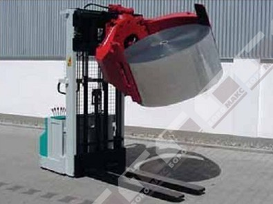 Кантователь для рулонов стали,  опрокидыватель для рулонов,  подъем и перемещение рулонов