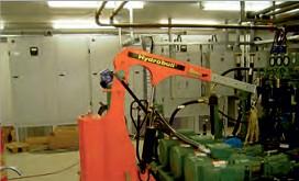 индустриальный гуськовой кран с противовесом
